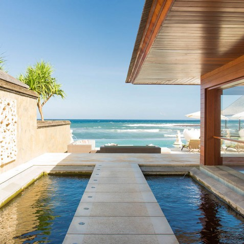 Villa Bayu Gita Beachfront Bali - Pathway to Pool Deck