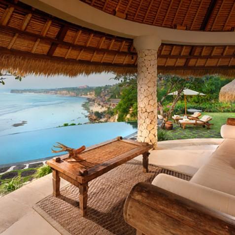 Villa Bayuh Sabbha - Living Area View - Uluwatu, Bali
