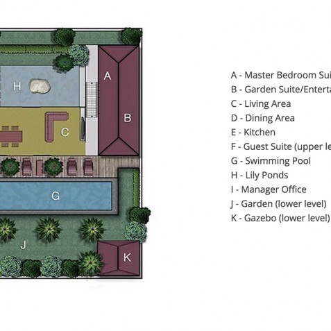 Villa Capung Bali - Floor Plan