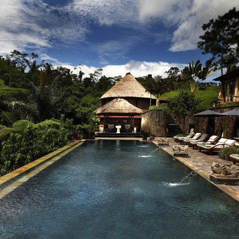 Bagus Jati Health & Wellbeing Retreat, Bali - Pool & Bale