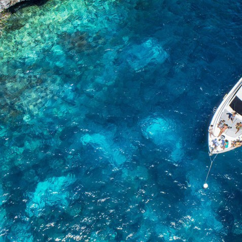 Aerial View - Burjuman - Luxury Yacht Charter & Cruises - Bali, Indonesia