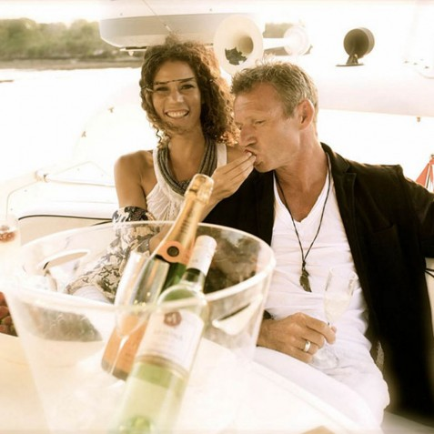 Champagne Lunch - Burjuman - Luxury Yacht Charter, Bali, Indonesia