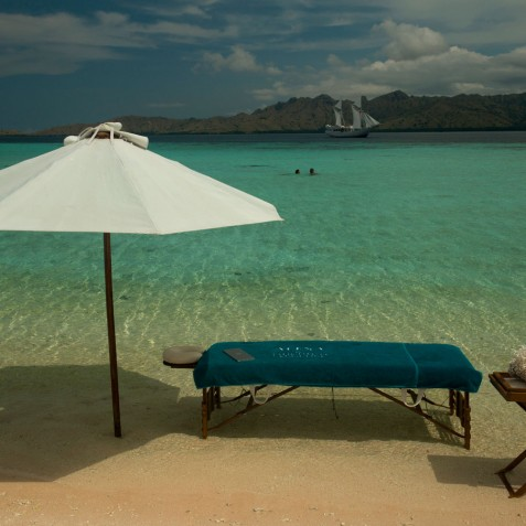 Massage on Beach - Alexa Private Cruises - Luxury Charter Yacht - Indonesia