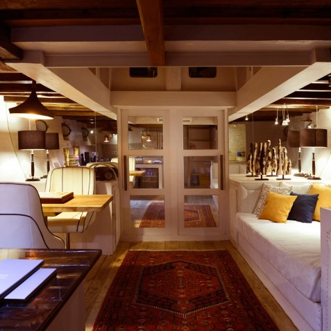 Lower Deck Lounge - Alexa Private Cruises - Luxury Charter Yacht - Indonesia