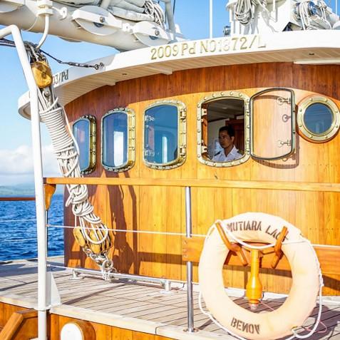 Captain's Wheelhouse - Mutiara Laut - Luxury Yacht Charter Indonesia