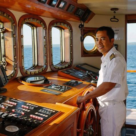 Captain - Mutiara Laut - Luxury Yacht Charter Indonesia