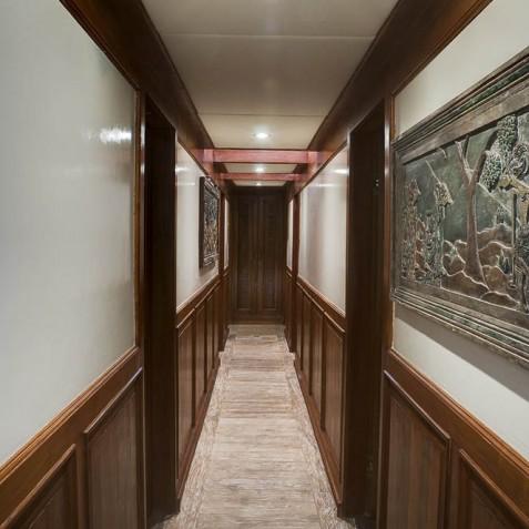 Deluxe Suites Corridor - Mutiara Laut - Luxury Yacht Charter Indonesia