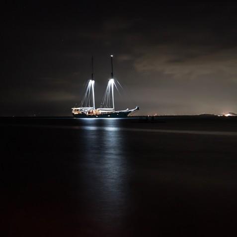 At Night - Mutiara Laut - Luxury Yacht Charter Indonesia