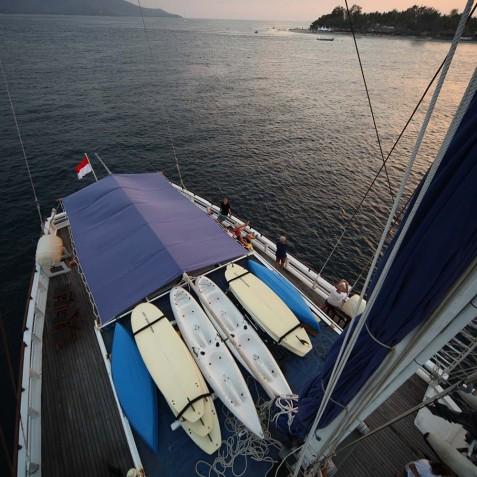 Aerial View - Ombak Putih Cruises - Sailing Adventures - Indonesia