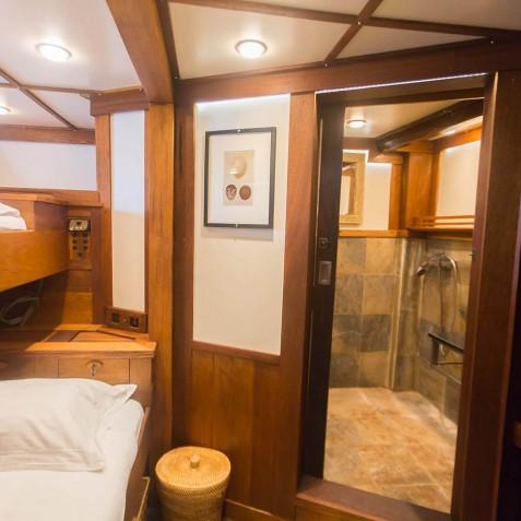 Cabin Bathroom - Ombak Putih Cruises - Sailing Adventures - Indonesia