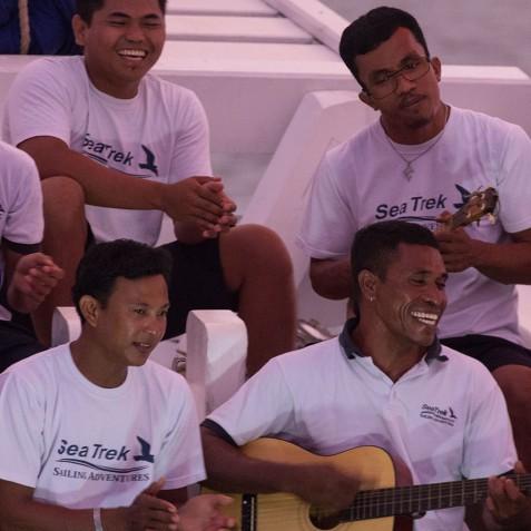 Evening Entertainment - Ombak Putih Cruises - Sailing Adventures - Indonesia