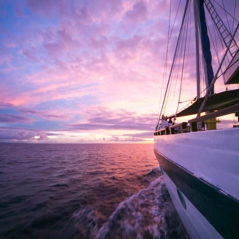 Sunsets - Ombak Putih Cruises - Sailing Adventures - Indonesia
