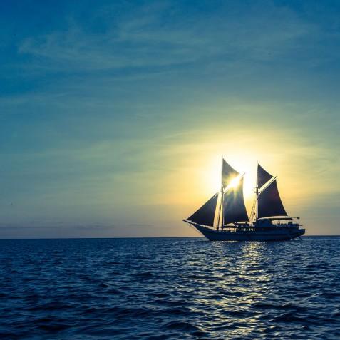 Sunset - Ombak Putih Cruises - Sailing Adventures - Indonesia