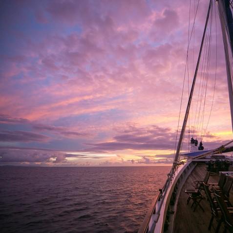 Sunset Views - Ombak Putih Cruises - Sailing Adventures - Indonesia