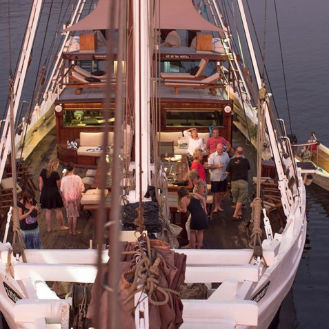 Upper Deck - The Katharina - Sailing Adventure Cruises Indonesia