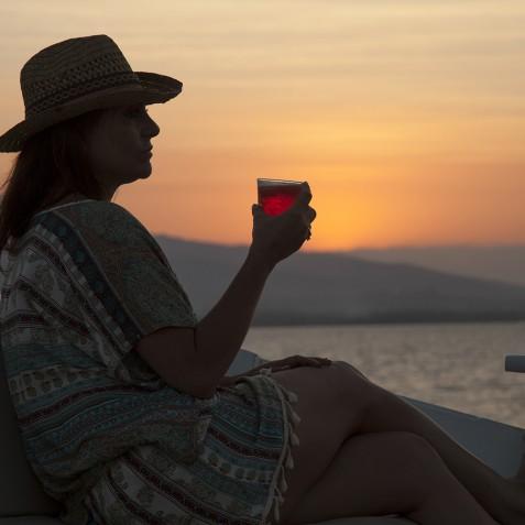 Sunset Drinks - The Katharina - Sailing Adventure Cruises Indonesia