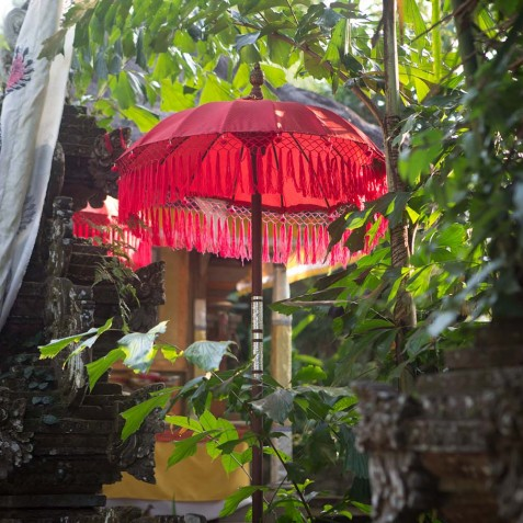 Balinese Offerings - Svarga Loka Resort - Ubud, Bali, Indonesia