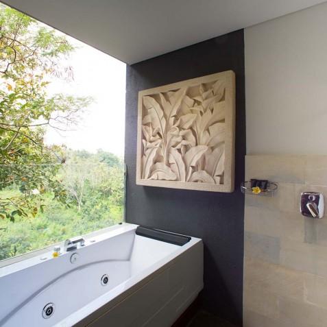 Open Air Bathroom - Svarga Loka Resort - Ubud, Bali, Indonesia