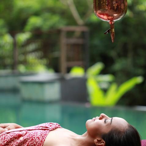 Shirodhara - Spa Treatments - Svarga Loka Resort - Ubud, Bali, Indonesia
