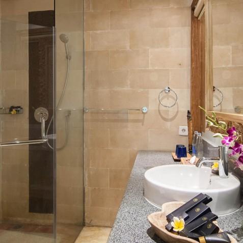 Superior Room Bathroom - Svarga Loka Resort - Ubud, Bali, Indonesia