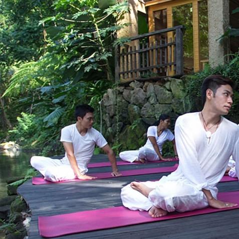Morning Yoga - Svarga Loka Resort - Ubud, Bali, Indonesia