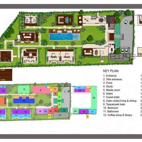 Cocoon Villa Floor Plan - Cocoon Villa - Cocoon Medical Spa Retreat, Seminyak, Bali