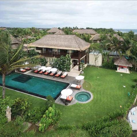Villa Ambra Bali - Aerial View - Pantai Lima Estate, Canggu, Bali, Indonesia