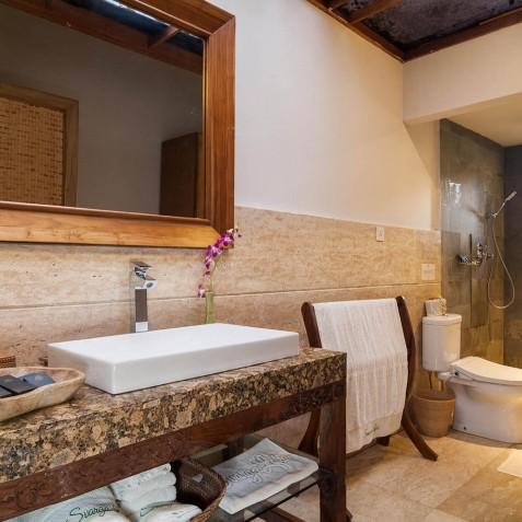 Deluxe Room Shower- Svarga Loka Resort, Ubud, Bali, Indonesia