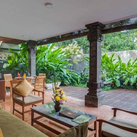 Honeymoon Suite Living Area - Svarga Loka Resort, Ubud, Bali, Indonesia