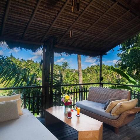 Master Suite Balcony - Svarga Loka Resort, Ubud, Bali, Indonesia