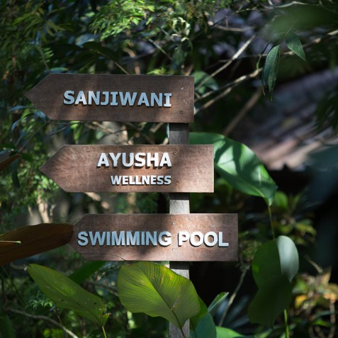 Sign Post - Svarga Loka Resort - Ubud, Bali, Indonesia