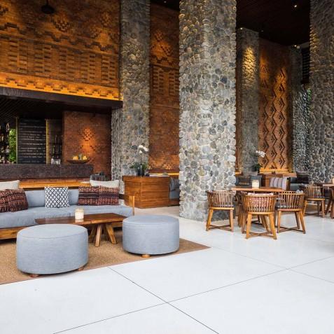 Dining Cabana Lounge - Alila Ubud, Bali, Indonesia