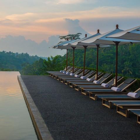Infinity Pool Sunset - Alila Ubud - Bali, Indonesia