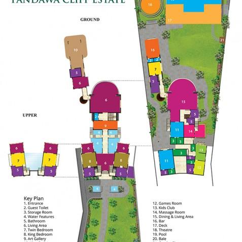 Pandawa Cliff Estate - The Pala Floorplan