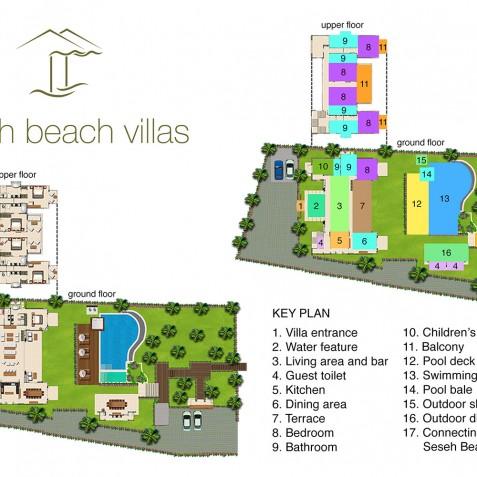 Seseh Beach Villa II Floorplan