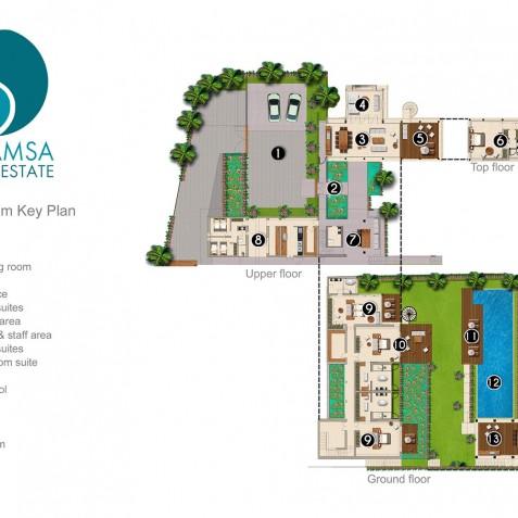 Villa Soham - Sohamsa Estate - Floorplan