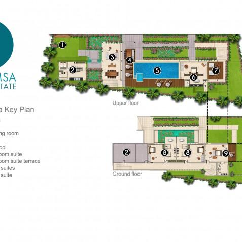 Villa Hamsa - Sohamsa Ocean Estate Floorplan