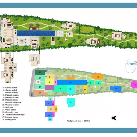Villa Ombak Putih Floorplan