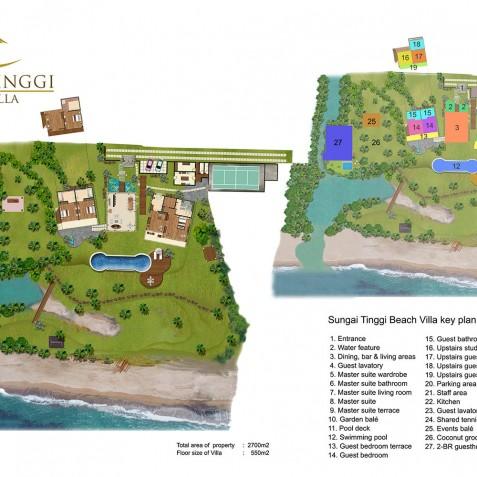 Sungai Tinggi Beach Villa Floorplan