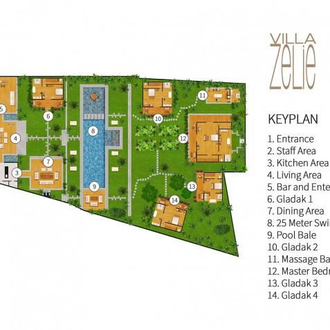 Villa Zelie Floorplan