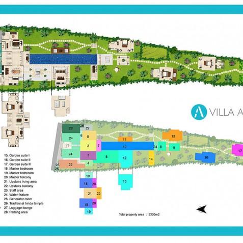 Villa Anucara Floorplan